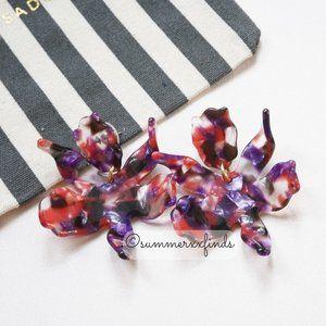 Lele Sadoughi Small Paper Lily Earrings Purple